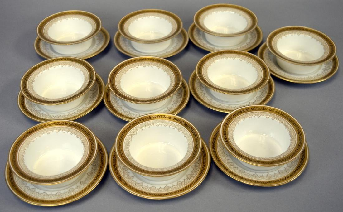 10 Redon Limoges Ramekins and Underplates