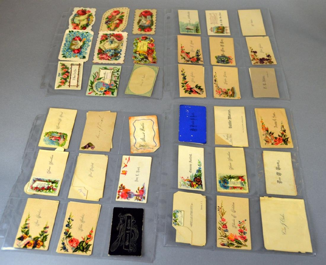 Notebook of Victorian placecards