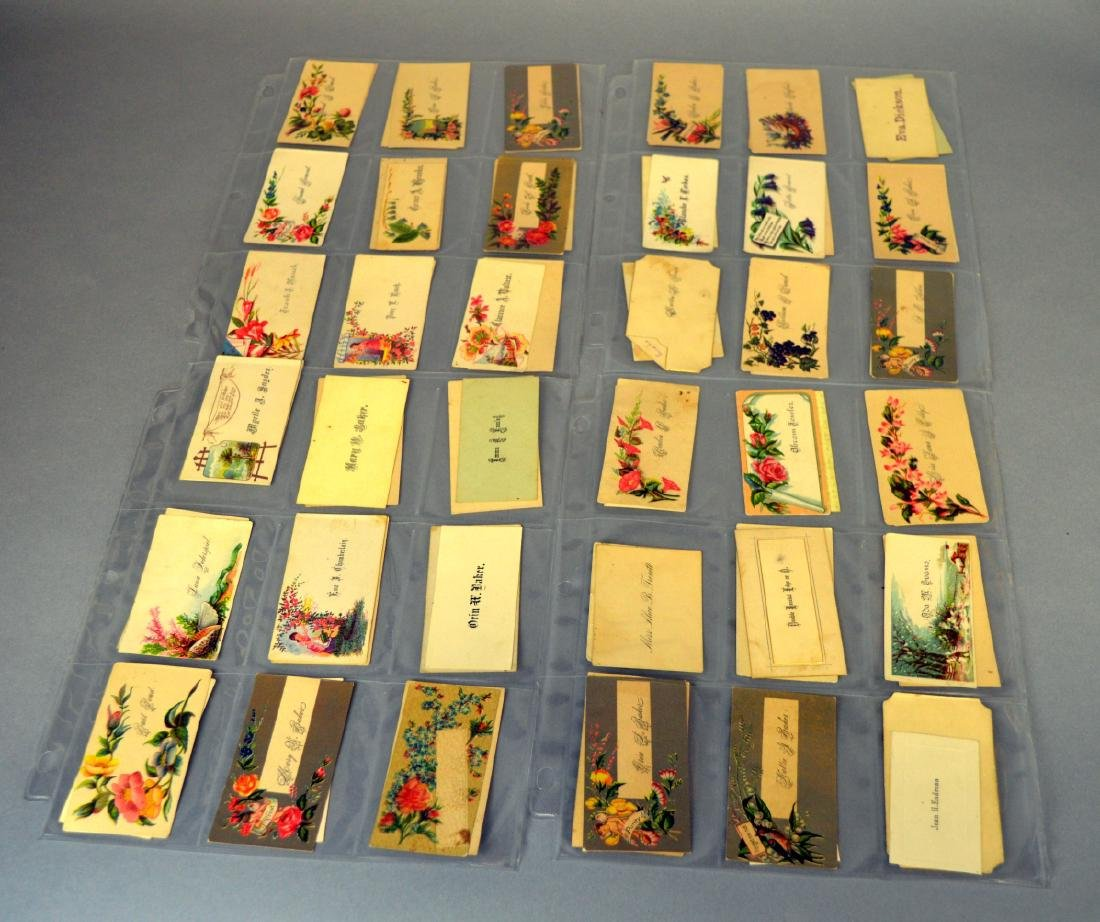 Notebook of Victorian placecards - 3