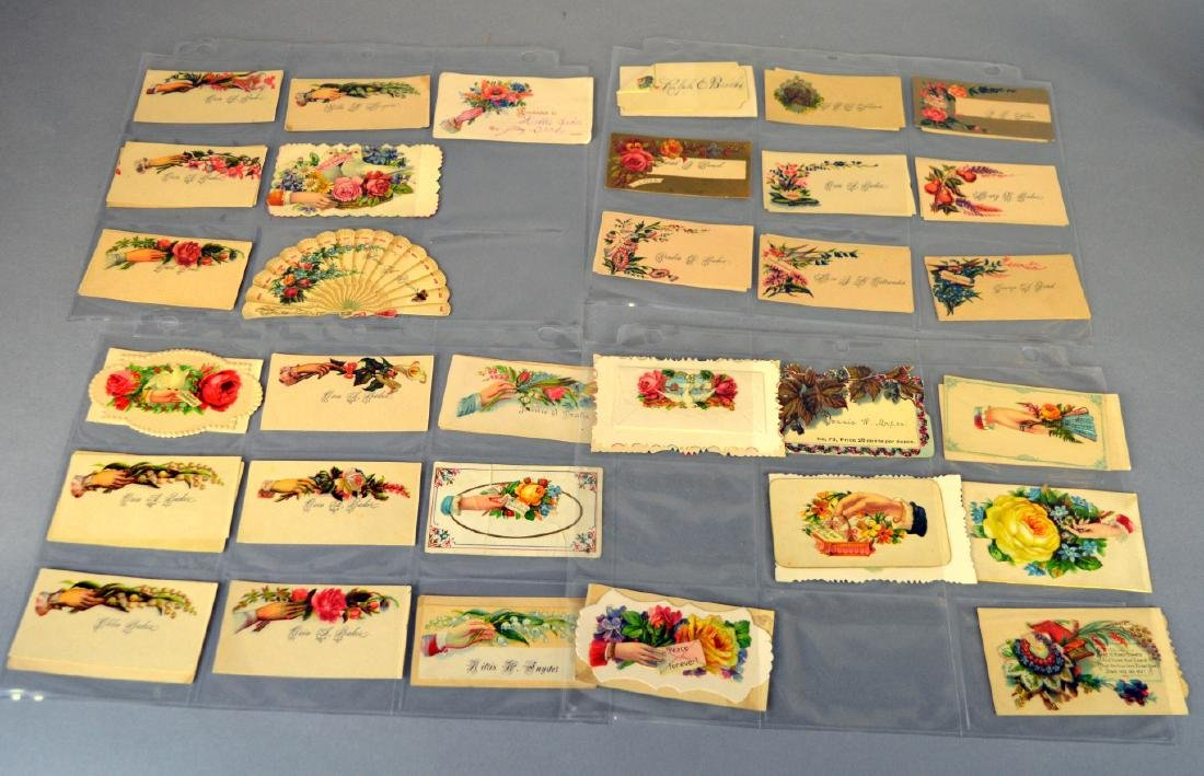 Notebook of Victorian placecards - 4