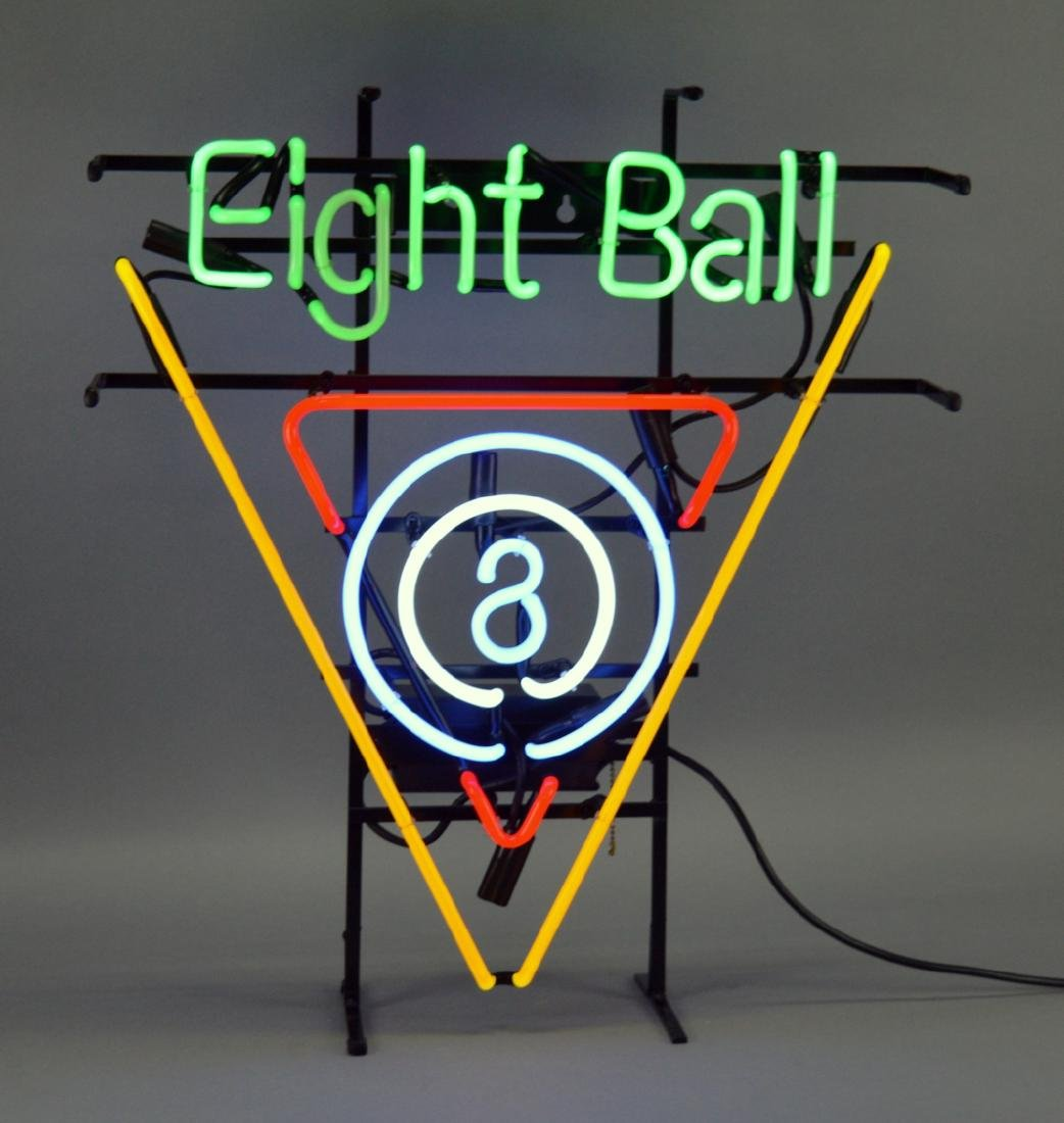 Neon Billiards 8 Ball Light