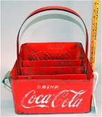 Coca-Cola Metal Bottle Carrying tray