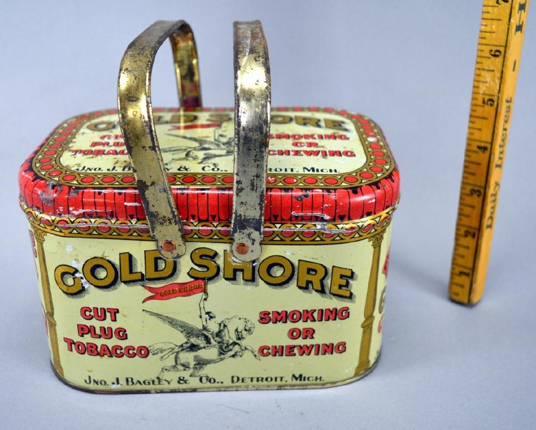 Gold Shore Detroit Mich. tobacco tin