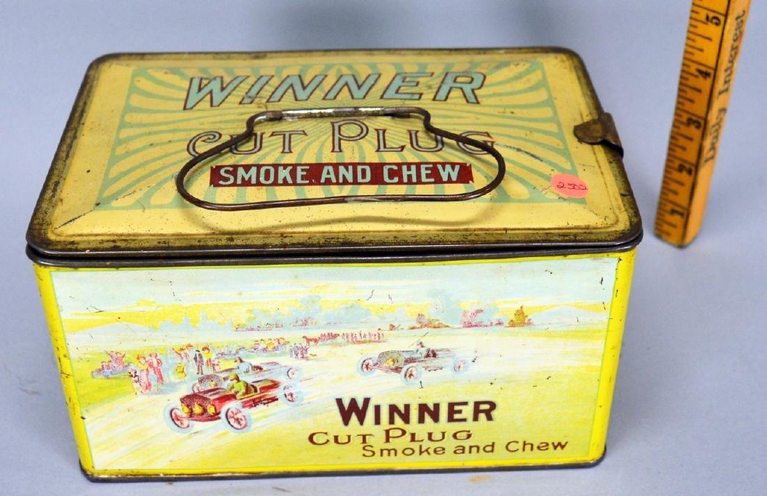 Winner Cut Plug Smoke and Chew tobacco tin