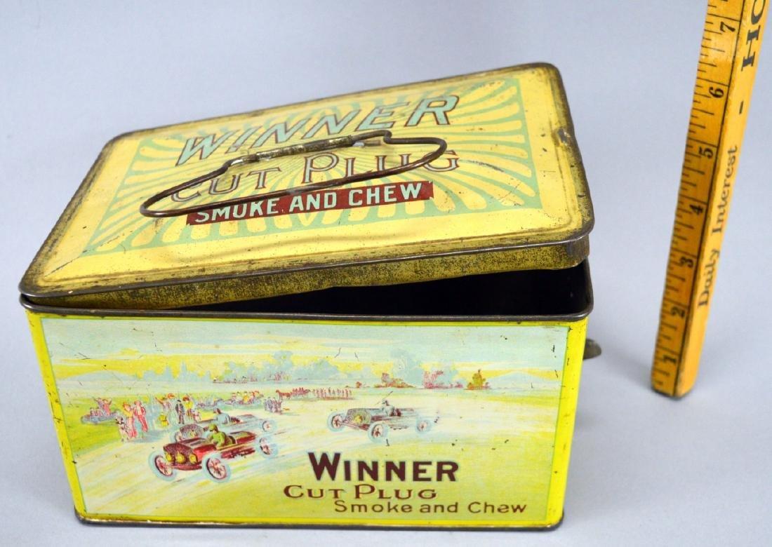 Winner Cut Plug Smoke and Chew tobacco tin - 2