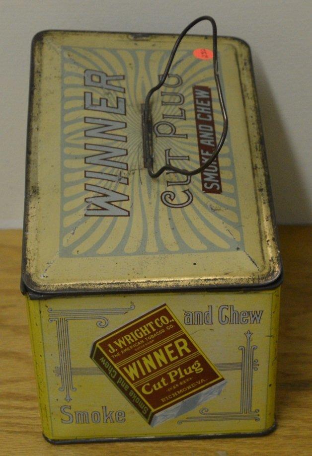 Winner Cut Plug Smoke and Chew tobacco tin - 6