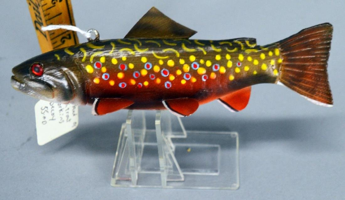 Strangland brook trout working decoy