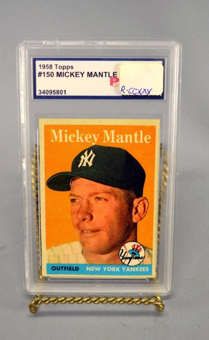 1958 Topps Mickey Mantle Baseball Card PRO 8.5 nm-mt