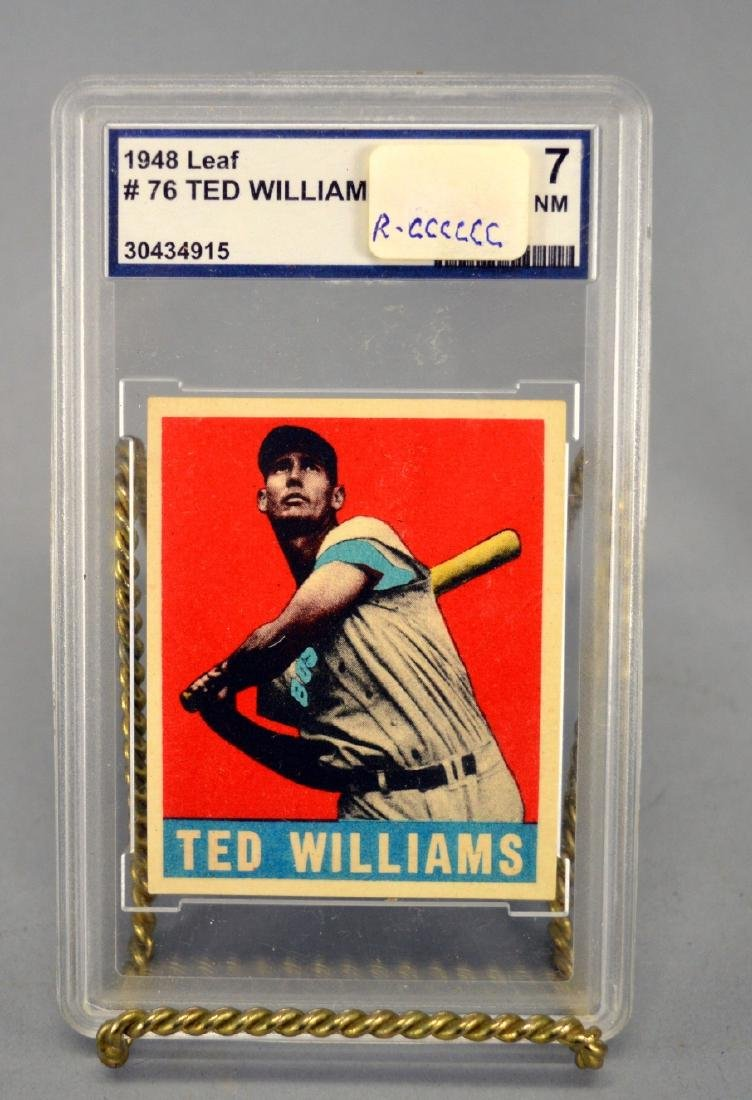 Ted Williams 1948 Leaf Baseball card 7nm