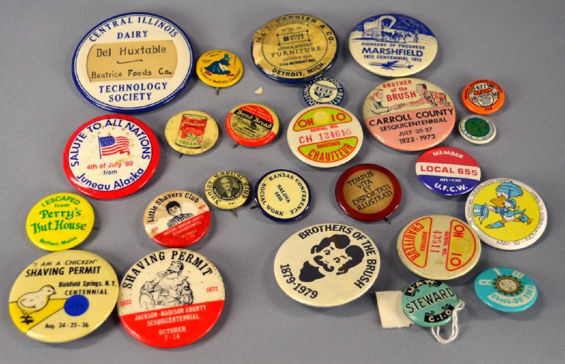 Vintage advertising buttons - 2
