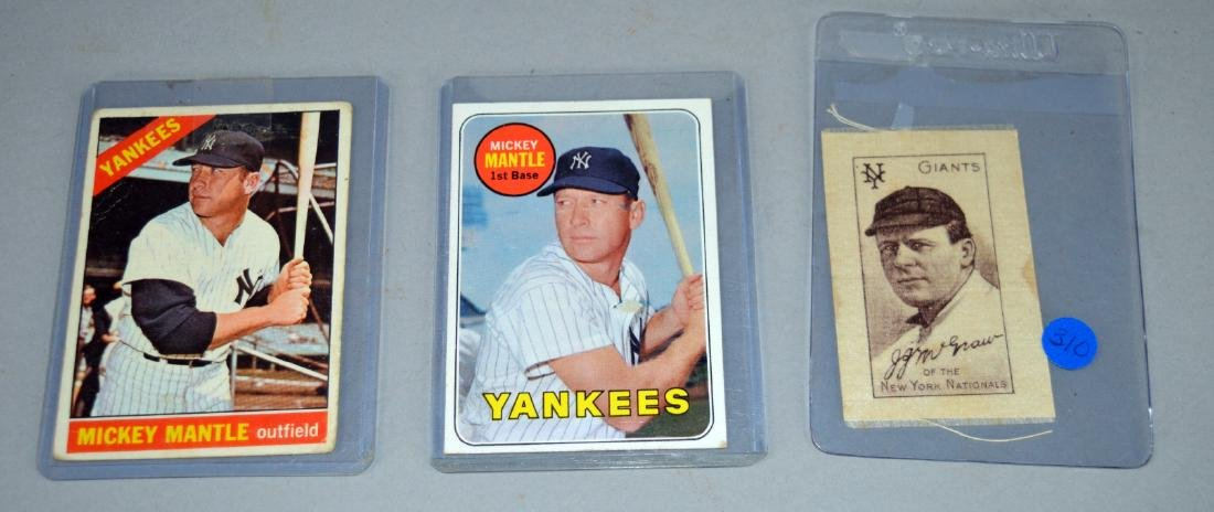 Mickey Mantle Card and McGraw baseball cards