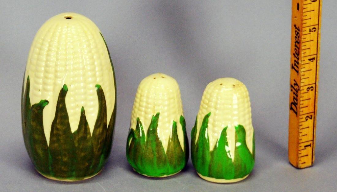 Corn Shakers Sugar, Salt and Pepper