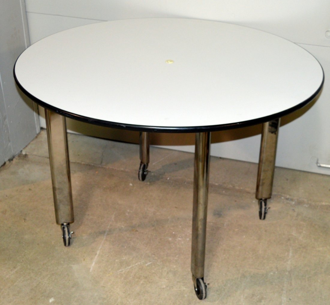 "Joe D'Urso High Table Knoll Studio 42"" Round Top"