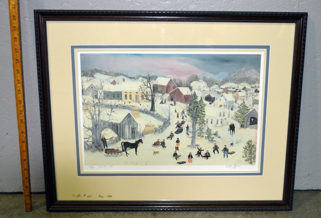 "William Moses ""Winter Fun"" Limited Edition Lithograph"