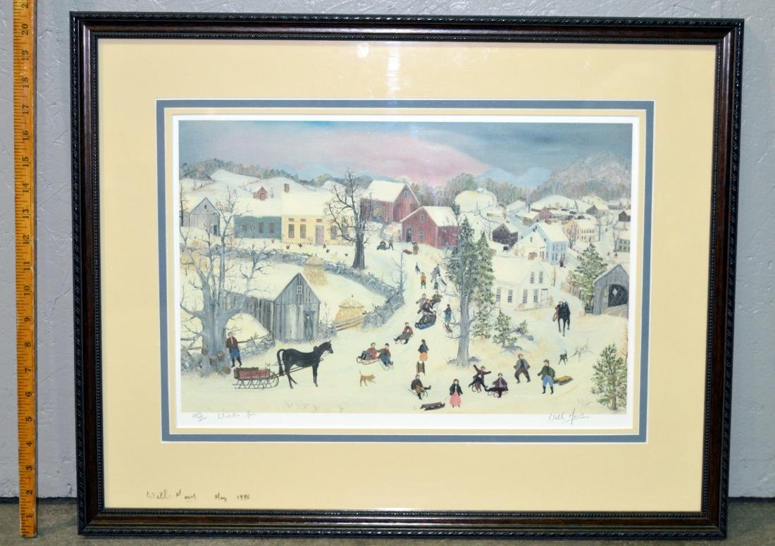 "William Moses ""Winter Fun"" Limited Edition Lithograph - 2"