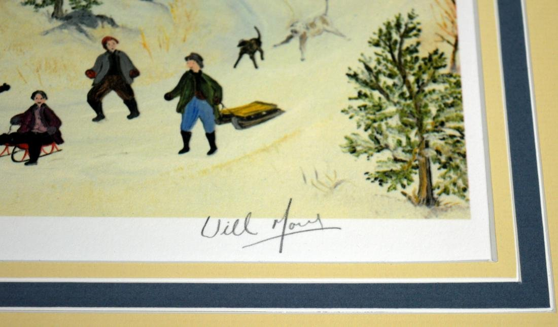 "William Moses ""Winter Fun"" Limited Edition Lithograph - 4"