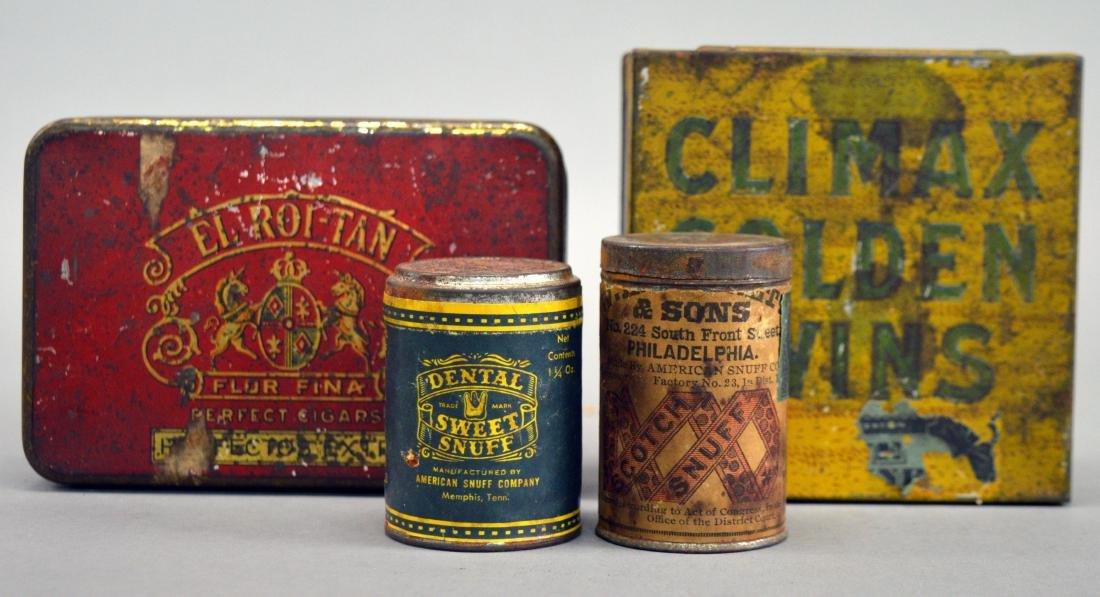 Four vintage tobacco tins