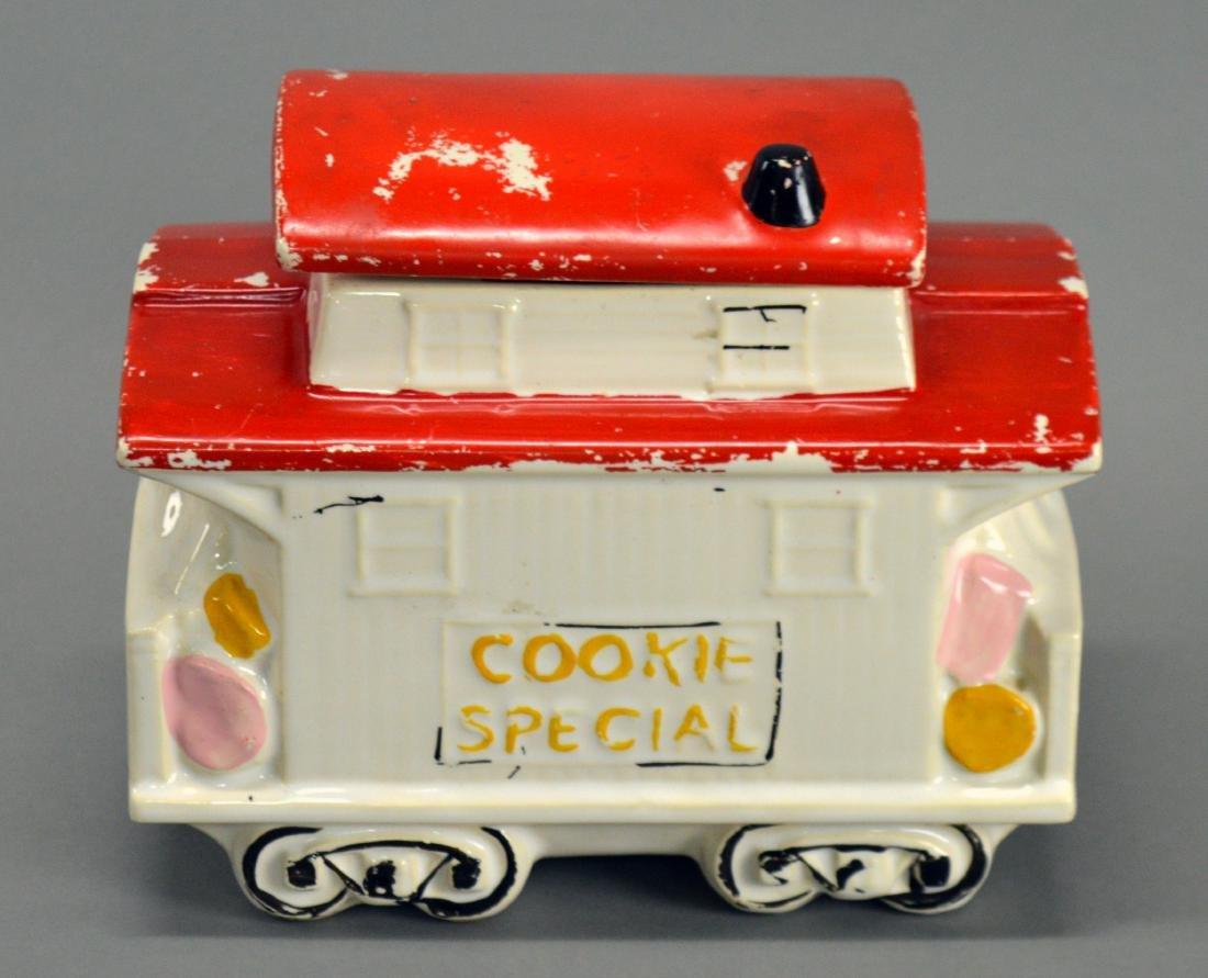 McCoy trolley car cookie jar