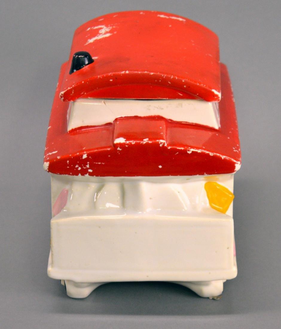 McCoy trolley car cookie jar - 2
