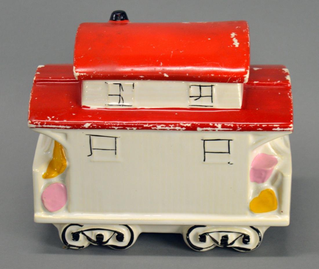 McCoy trolley car cookie jar - 3