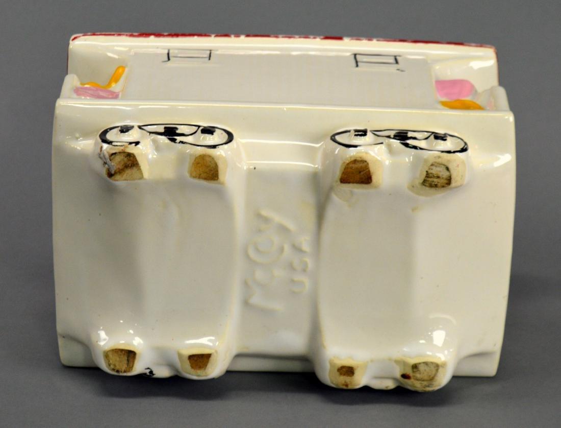 McCoy trolley car cookie jar - 5