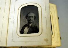 A Victorian photo album with CDVs and tintypes