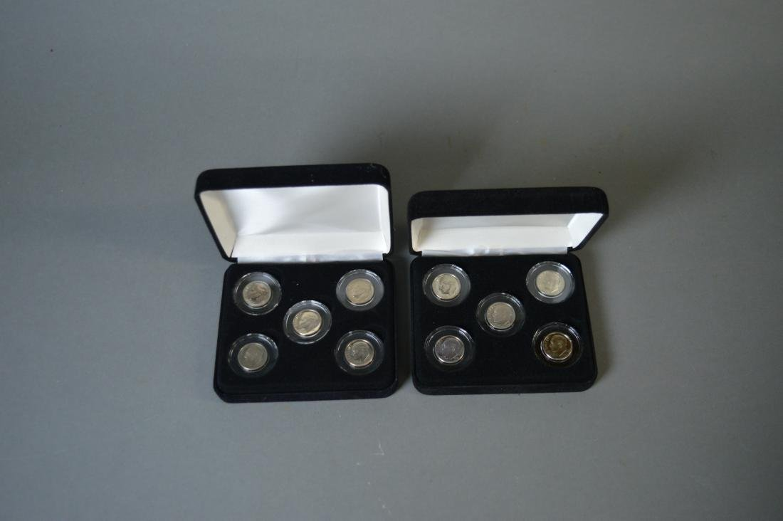 Two proof sets of Roosevelt dimes