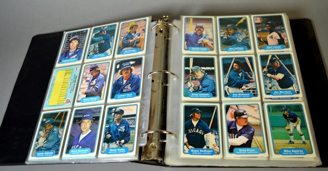 Album with 590+ Fleet baseball cards from the 1980s - 8