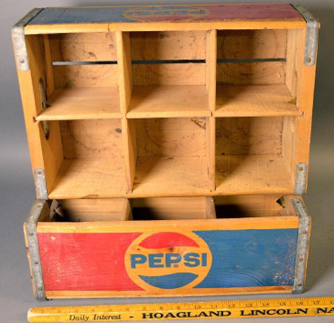 Two vintage Pepsi wood crates - 3