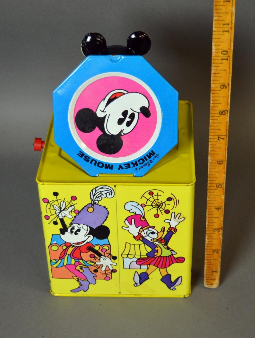 Vintage tin litho Mickey Mouse jack-in-the-box - 3