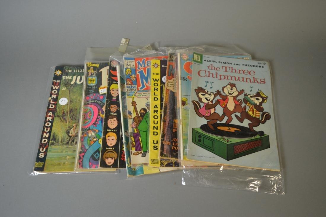 Ten vintage comic books
