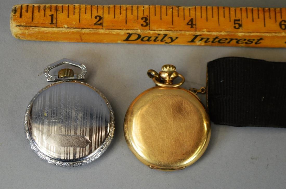 Two Antique Pocket Watches Waltham & Hamilton - 5