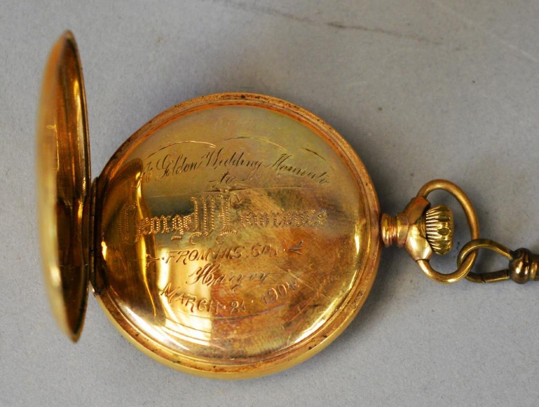 Two Antique Pocket Watches Waltham & Hamilton - 6