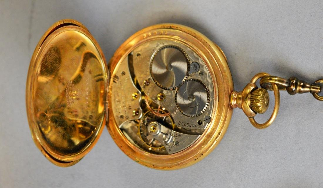 Two Antique Pocket Watches Waltham & Hamilton - 8