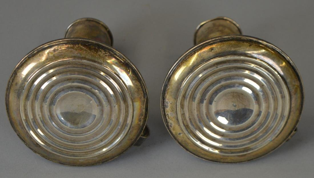 Pair of Weighted Sterling Candlesticks - 4