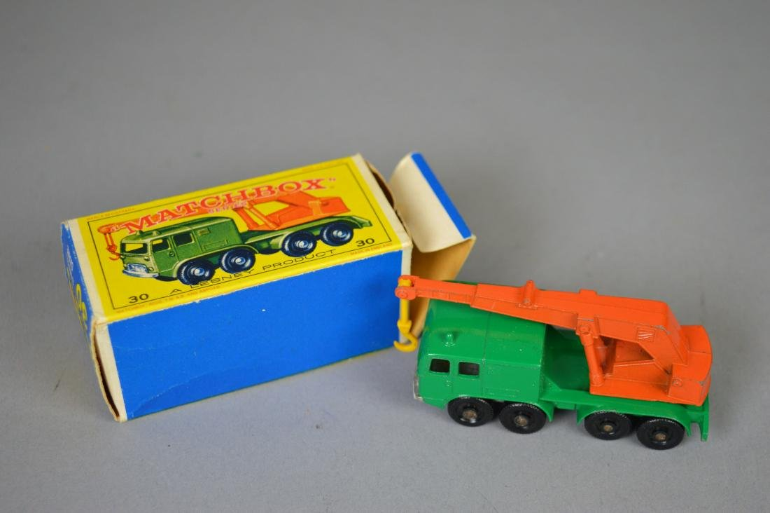 Lesney Matchbox #30 8 Wheel Crane w/ Box