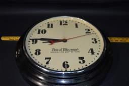 Postal Telegraph Synchronous Electric Time Clock