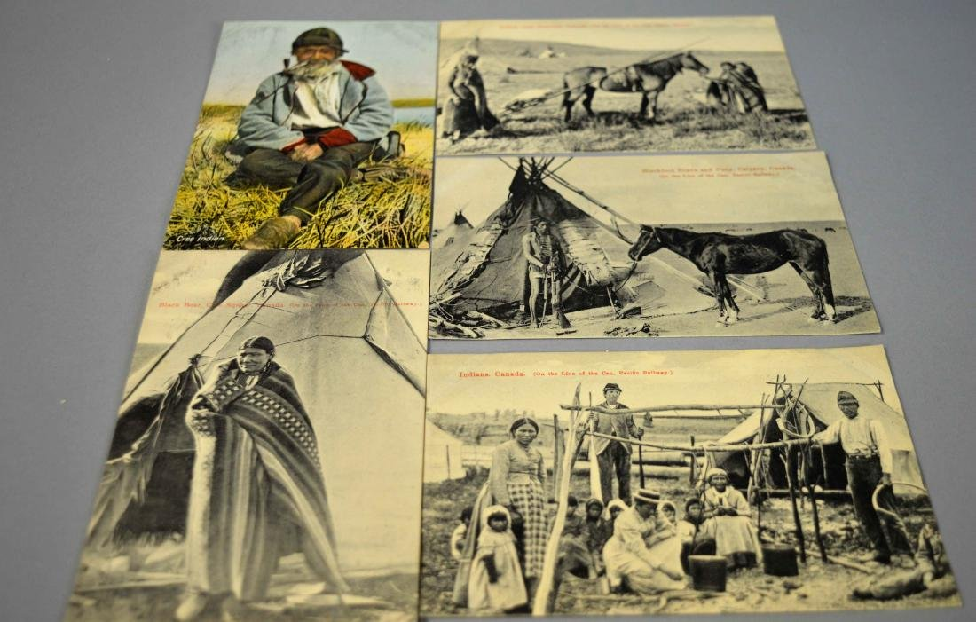 6 Antique Native American Postcards Montreal