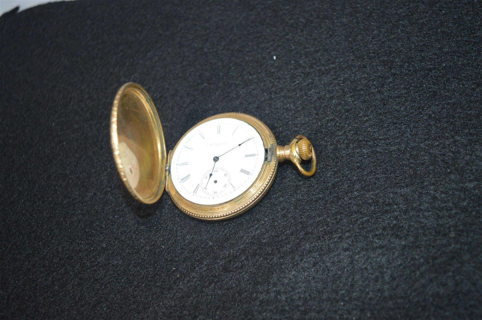 Elgin 15j Pocket Watch w/14k Gold Case
