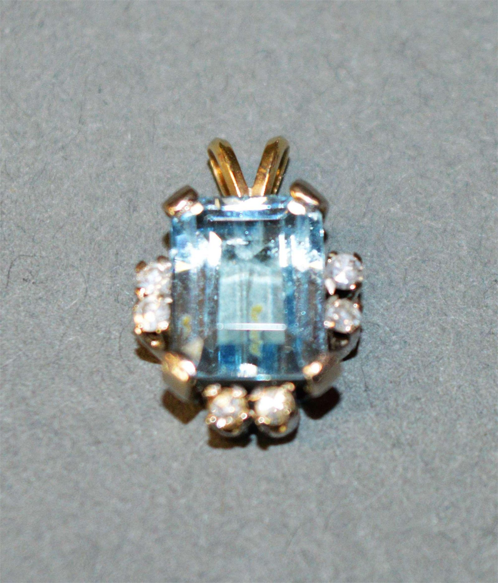 14k White Gold & Aquamarine Pendant