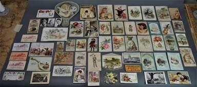 50 Piece Lot of Ephemera Victorian Trade Cards