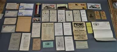 Lot of Vintage Railroad Memorabilia Ephemera