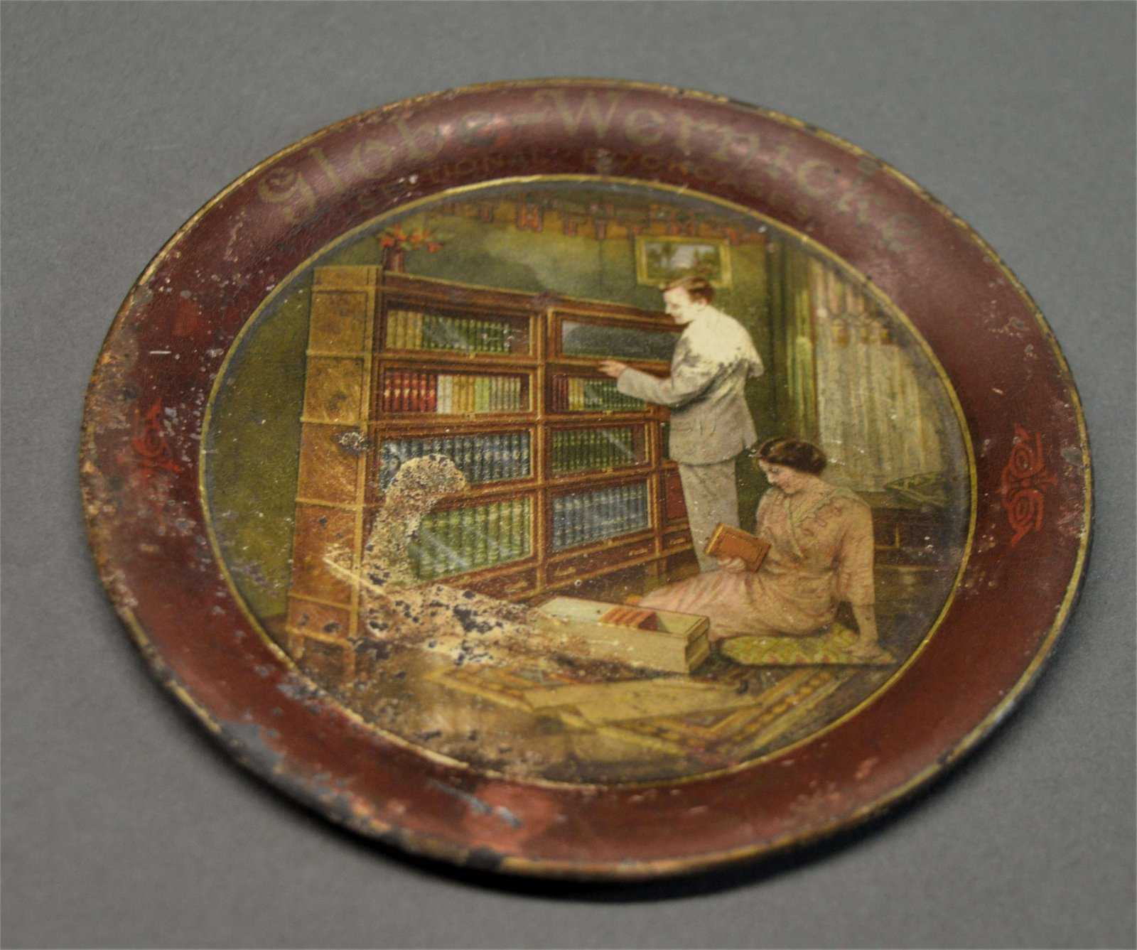 Antique Globe-Wernicke Advertising Tip Tray