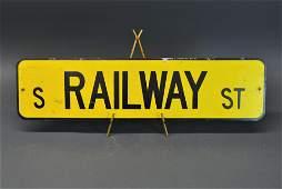 Vintage S Railway Street Sign