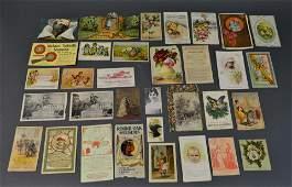 33 Piece Ephemera Lot Victorian Trade Cards