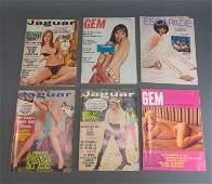 5 Adult Magazines c.1960s Gem Jaguar Escapade