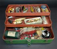 Vintage Tackle Box & Contents Fishing Lures
