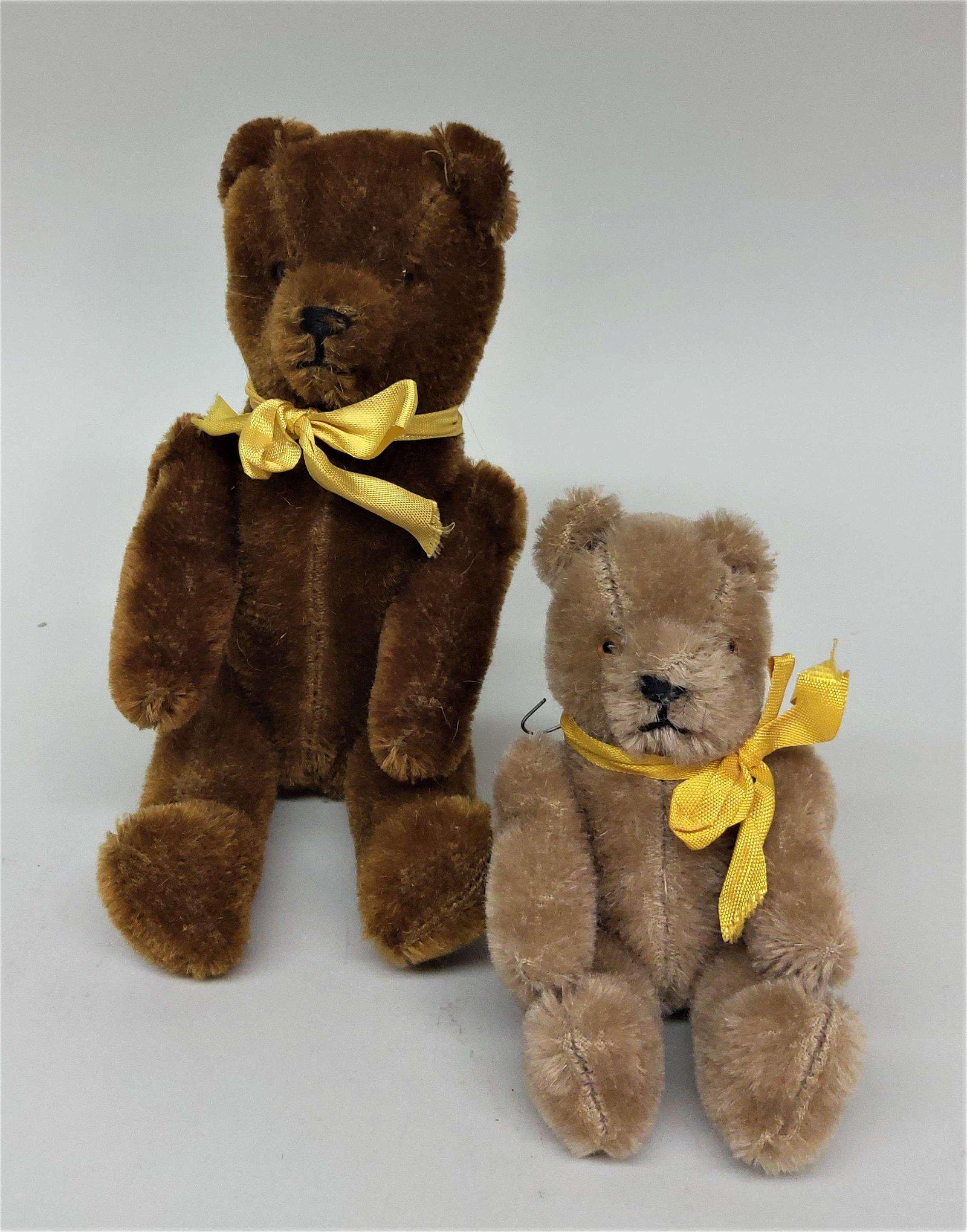 2 Vintage German Mohair Teddy Bears
