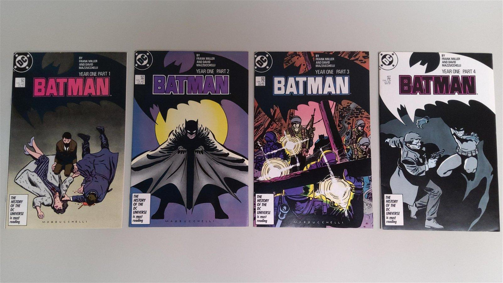 Set of 4 1st Year Frank Miller Batman Comics c.1987