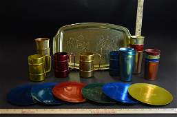 Lot of Vintage Aluminum Drinkware Cups Mugs